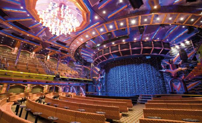 Hoogstaand entertainment in het theater van Costa Cruises