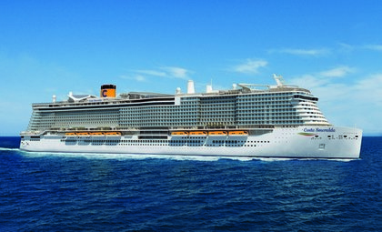 Cruiseschip Costa Smeralda van cruise rederij Costa Cruises