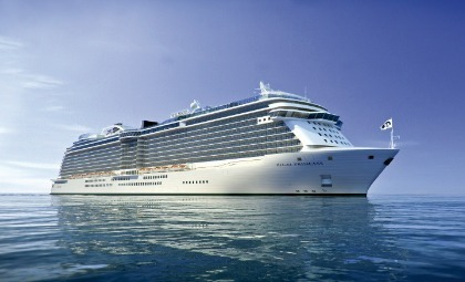 De Regal Princess van rederij Princess Cruises