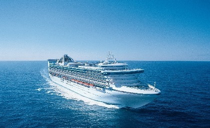 De Grand Princess van rederij Princess Cruises