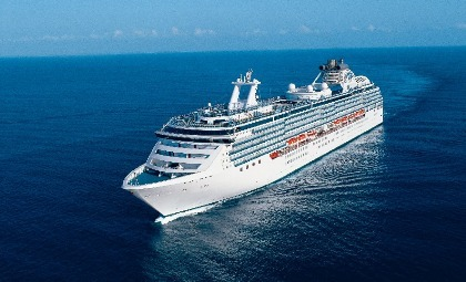 De Island Princess van rederij Princess Cruises