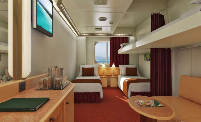 Hutten cruiseschip Carnival Dream