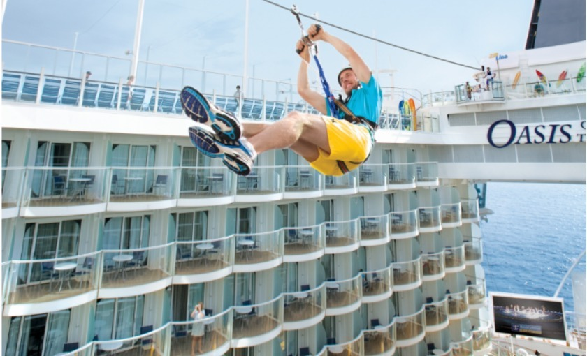 Zipline op de Oasis of the Seas