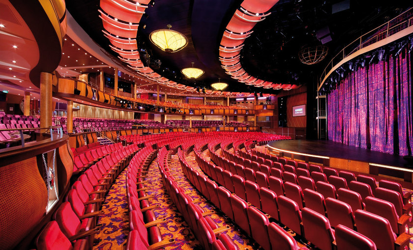 Het theater op de Allure of the Seas van Royal Caribbean
