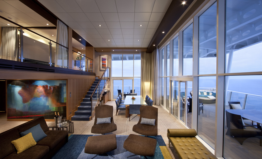 Een duplex suite op de Allure of the seas van Royal Carribean