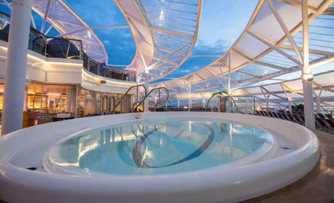 Het solarium op de Harmony of the Seas