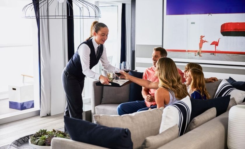 Celebrity Edge room service penthouse