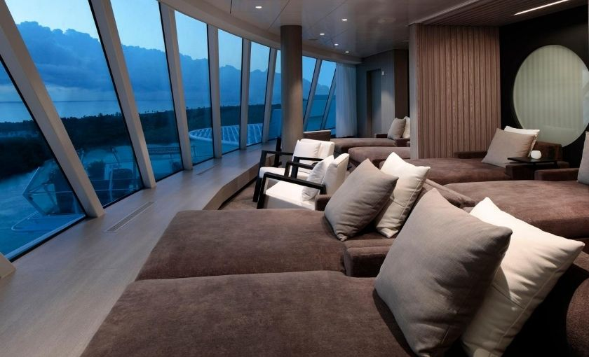 Celebrity Edge spa relaxation room