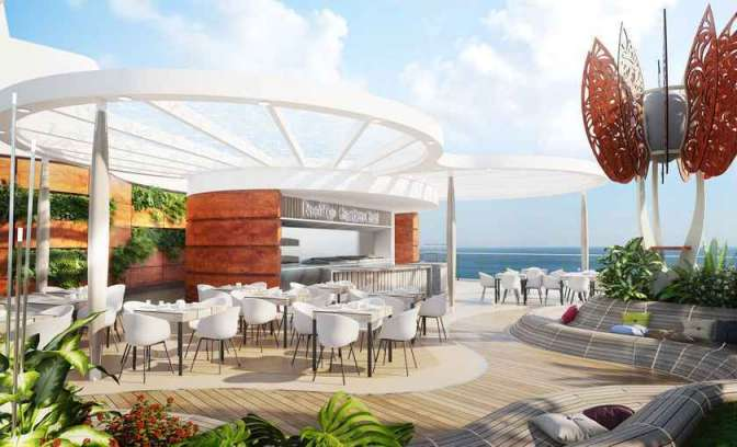 Celebrity Edge rooftop bar