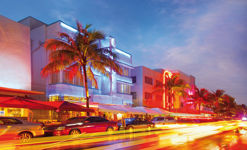 South beach strip in Miami